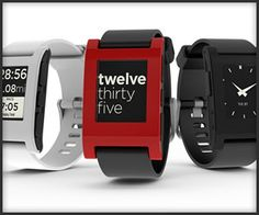 Pebble E-Paper Watch - I love these.