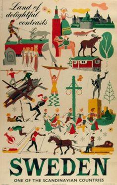 Vintage European Posters.  #PinStockholm #VisitSweden
