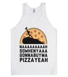 Buy Me Pizza King-Unisex White Tank