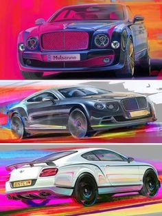 Colorful Bentley paintings by Carl-Niklas Linck