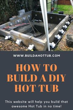 How to Build a homemade Hot DIY Hot Tub. We have lots to ideas as well as designs to surround your H Diy Swimming Pool, Natural Swimming Pools, Diy Pool, Pool Spa, Natural Pools, Hot Tub Backyard, Hot Tub Garden, Backyard Pools, Pool Decks