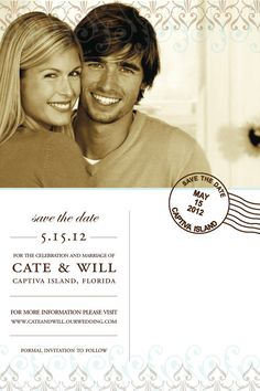 YOU PRINT DIY  Customizable Save the Date Invitation  by bstruck1, $15.00