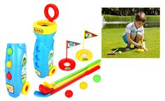 Velocity Toys Golf Master Sport Children's Kid's Toy Golf Play Set - If you love golf and your child always wants to join in, they can now with this mini golf set.