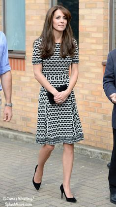 The Duchess In Tory Burch & New Earrings for Mental Health Awareness Engagement ©James Whatling/Splash News