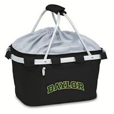 Baylor University Bears Picnic Basket Tailgating Tote Bag // Spring means time for picnics, and this basket is perfect for it!