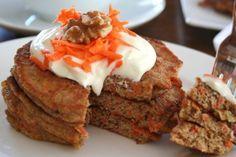 Panquecas de cambur y zanahoria saludables