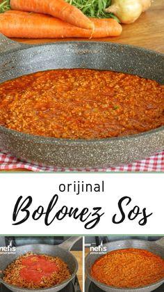 Original Bolognese Sauce Rezept (mit Video) - Köstliche Rezepte Original Bolognese Sauce Recipe (with video) - Delicious Recipes, Yummy Recipes, Sauce Recipes, Yummy Food, Original Bolognese, Tahini Sauce, Bologna, Pesto, Food And Drink, The Originals