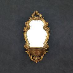 Gold Mirror Shelf - Ornate Floral - Vintage Syroco - Baroque Mirror - Hollywood Regency - Shabby Chic by TheCherryAttic on Etsy