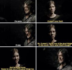 "I totally cried during this scene. The Walking Dead Season 7 Episode 14 ""The Other Side."" S07 E14."