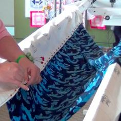 Loading  Quilt Layers and Stitching on a Long-Arm Machine