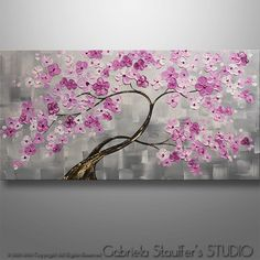 Birds Painting Abstract Painting Tree Painting by Catalin on Etsy