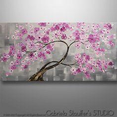 Flor de la decoración para el hogar pintura abstracta