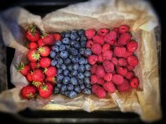 Strawberry, blueberry and raspberry