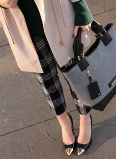 Emerald green with gold accents | Penny Pincher Fashion: Checkered State