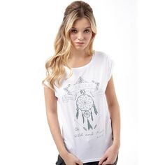 Firetrap Womens Slouch T-Shirt Bright White Firetrap short sleeve jersey tee with roll sleeve and metal badge branding details. http://www.MightGet.com/february-2017-2/firetrap-womens-slouch-t-shirt-bright-white.asp