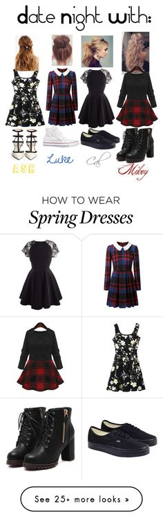 """""""date night"""" by ellasepicoutfits on Polyvore featuring Converse and Vans"""