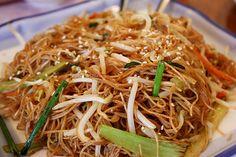 Stir fry rice noodles photo