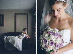 Bride solo portrait at the Madison Hotel Morristown NJ. NY NJ Wedding photographers Pearl Paper Studio.