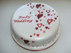 Gallery of Anniversary Cakes | Cake Maker Falmouth Cornwall | Sugar Magic