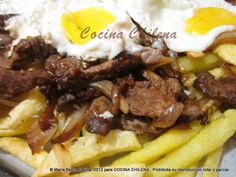 .COCINA CHILENA: CHORRILLANA Chilean Recipes, Chilean Food, American Food, Food For Thought, Soul Food, Ale, Main Dishes, Nom Nom, Bacon