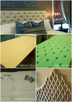 Superb DIY Headboard Ideas for Your Beautiful Room Diamond-Tufted Upholstered Headboard DIY - 78 Superb DIY Headboard Ideas for Your Beautiful Room - Page 8 of 8 - DIY & Crafts Quilted Headboard, Diy Tufted Headboard, Headboards For Beds, Headboard Ideas, Upholstered Beds, Diy Furniture, Bedroom Furniture, Plywood Furniture, Furniture Projects