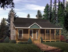 Elevation of Country   House Plan 49124