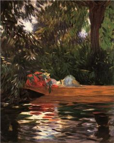"""""""Under the Willows"""" - John Singer Sargent.  Professional Artist is the foremost business magazine for visual artists. Visit ProfessionalArtistMag.com"""