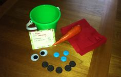 "This ""Make Your Own Snowman Kit"" is such an adorable gift idea (and easy!) for kids during the winter. Just add snow!"
