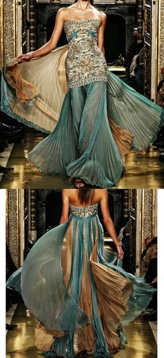 Teal and gold indian inspired dress