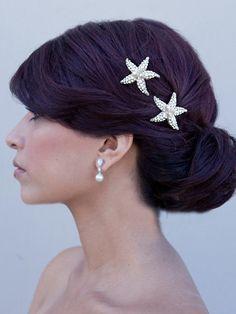 Sea Star  Rhinestone and Freshwater Pearl von HairComestheBride, $24.00