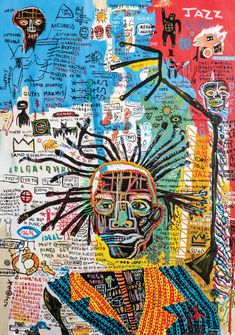 These Pop Art Artists Got Us Completely Swept Away! Art Inspo, Jean Michel Basquiat Art, Jean Basquiat, Basquiat Paintings, Basquiat Artist, Pop Art, Art Du Collage, Kunst Tattoos, Art Et Illustration