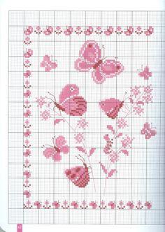 Ricamo e schemi a puntocroce gratuiti tante farfalle da for Farfalle a punto croce