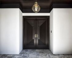 Featuring homes built by Hendel Homes (previously featured here) always gets me excited and this is one of the most exquisite homes I have published on Home Bunch. Door Design Interior, Interior Windows, Exterior Design, Kitchen Island Dimensions, Architecture Design, Retail Architecture, Door Paint Colors, Modern Farmhouse Exterior, Dream House Exterior