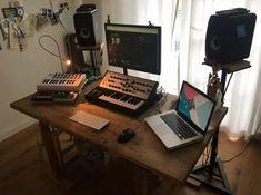 Home Studio Setup, Music Studio Room, Sound Studio, Studio Ideas, Music Production Equipment, Audio Engineer, Recording Studio, Room Inspiration, Interior Design