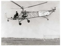 https://flic.kr/p/wCqVr6 | MC 02 | An undated file photo of Igor Sikorsky (1889-1972), piloting a VS-300 helicopter. Sikorsky was a Russian born aviation pioneer and founder of Stratford based Sikorsky Aircraft.