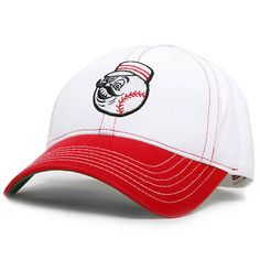 Cincinnati Reds American Needle Pastime Retro Logo Washed Twill Adjustable Hat - White/Red - $19.99