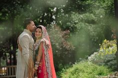 indian wedding bride groom outdoor http://maharaniweddings.com/gallery/photo/9276