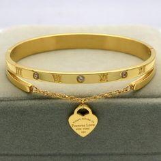 Pulseira de titânio de aço The Bangles, Love Bracelets, Cartier Love Bracelet, Bangle Bracelets, Gold Bangles, Fine Jewelry, Women Jewelry, Jewellery, Steel Jewelry