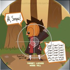 Naruto Shippuden » Humor » Comic | Dediara's Eye Scope, Target Locked, Mode: Kill | #tobi #deidara ~5 seconds later: OHGAWD SENPAI NO WAIT STOP