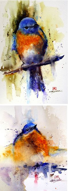 Dean Crouser, art, painting, watercolor, animals, wildlife, birds