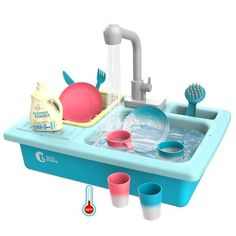 CUTE STONE Color Changing Kitchen Sink Toys, Children Heat Sensitive Electric Dishwasher Playing Toy with Running Water, Automatic Water Cycle System Play House Pretend Role Play Toys for Boys Girls: Toys & Games Toys For Boys, Kids Toys, Children's Toys, Elmo Toys, Toddler Toys, Jouets Fisher Price, Pretend Play Kitchen, Little Girl Toys, Baby Girl Toys
