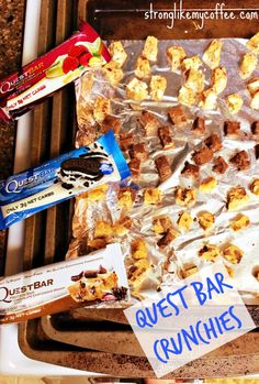 Quest Bar Crunchies on Stronglikemycoffee.com Blog HEALTHY CLEAN SNACK or DESSERT Blog Healthy, Healthy Snacks, Healthy Eating, Yummy Snacks, Healthy Cooking, Yummy Treats, Sweet Treats, Protein Foods, Protein Bars
