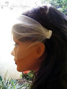 Rhinestone birdcage veil Blusher Veil Wedding by RoseGardenDesign, $22.90