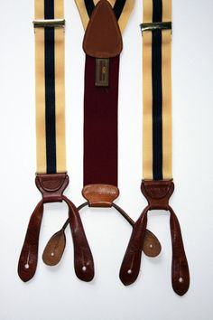 If one is going to wear suspenders, they must be splendidly dapper.