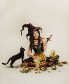 Autumn Witch by WhiteRaven89.deviantart.com on @deviantART