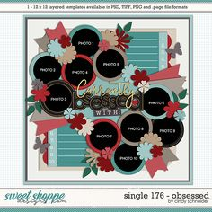 Cindy's Layered Templates - Single 175: Obsessed by Cindy Schneider