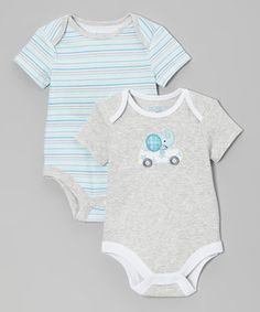 Heather Gray Stars Bodysuit Set - Infant by Happi by Dena #zulily #zulilyfinds