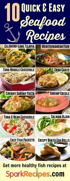 10 Healthy Fish Recipes for Lent. Awesome healthy alternatives to the traditional fish fry! | via @SparkPeople #Lent #fish #seafood #recipe #healthyrecipe #healthyeating