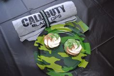 Camo Cupcakes - made for Call of Duty party