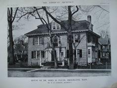 House of Dr. John H. Payne , Brookline, MA, 1912, Mr. W.H. Andrews